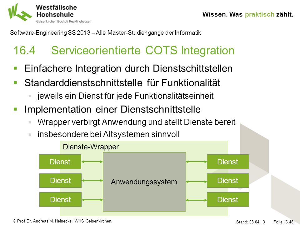 16.4 Serviceorientierte COTS Integration