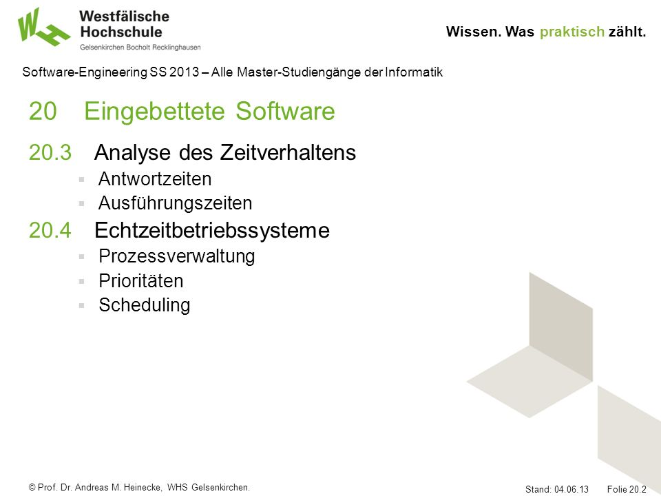 20 Eingebettete Software