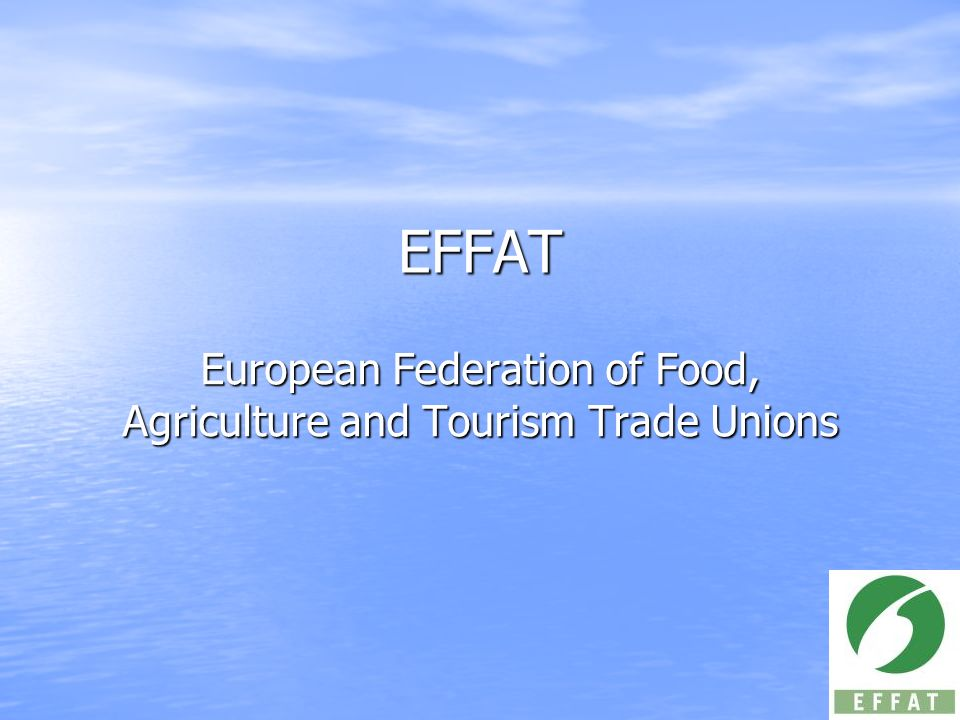 European Federation of Food, Agriculture and Tourism Trade Unions