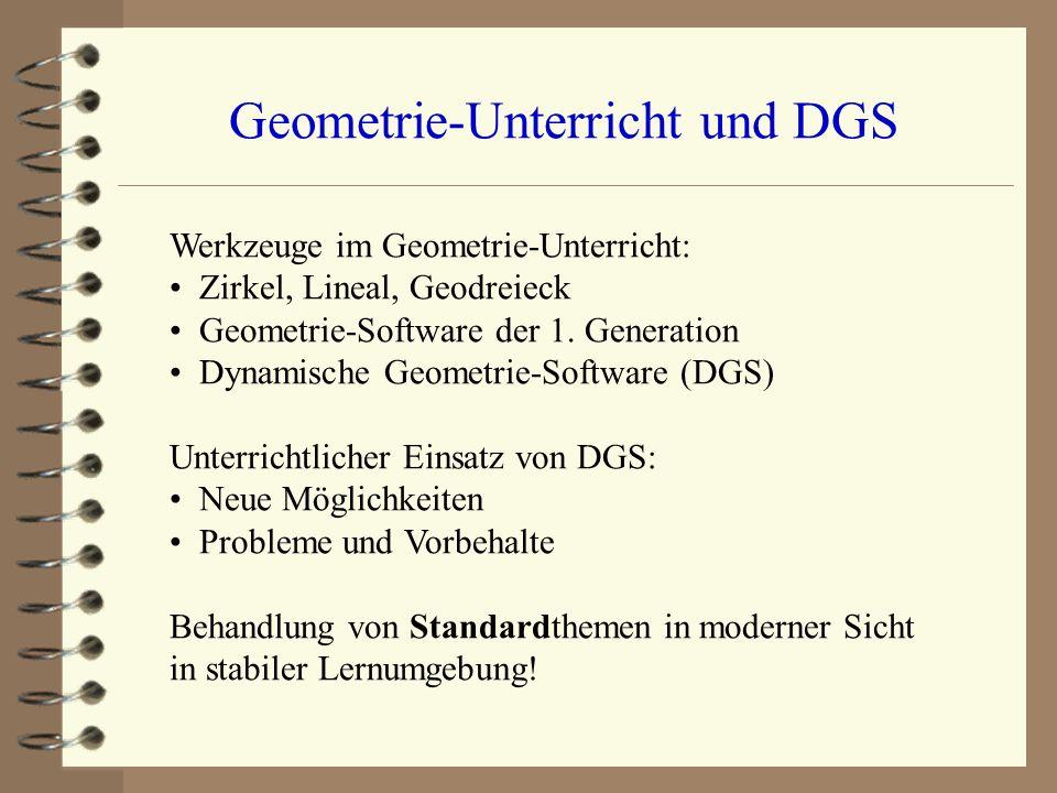 Neue Ansätze im Geometrie-Unterricht der S I durch elektronische ...