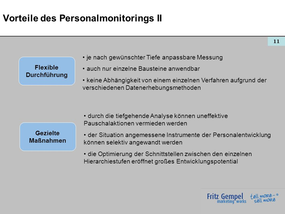 Vorteile des Personalmonitorings II