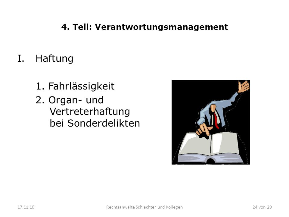 4. Teil: Verantwortungsmanagement