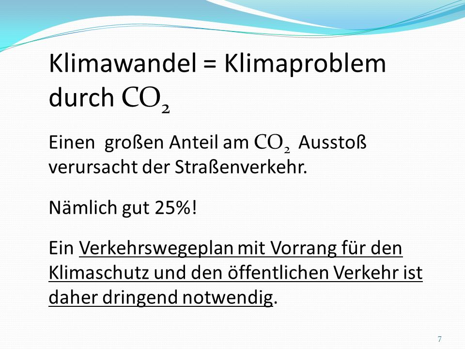 Klimawandel = Klimaproblem durch CO2