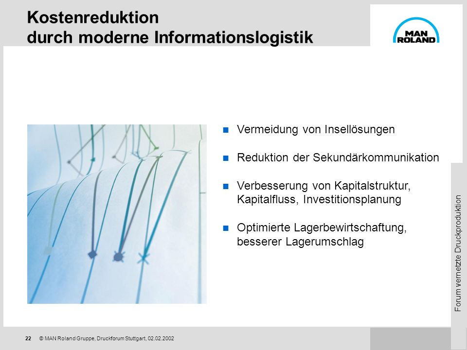 Kostenreduktion durch moderne Informationslogistik