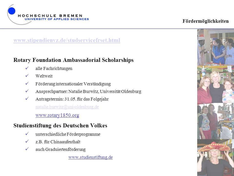 Rotary Foundation Ambassadorial Scholarships