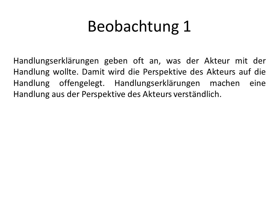 Beobachtung 1