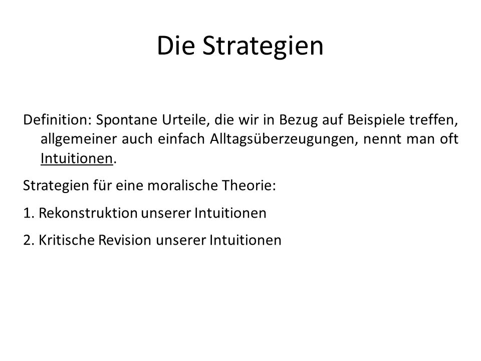 Die Strategien