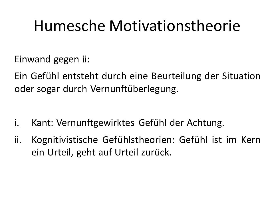 Humesche Motivationstheorie