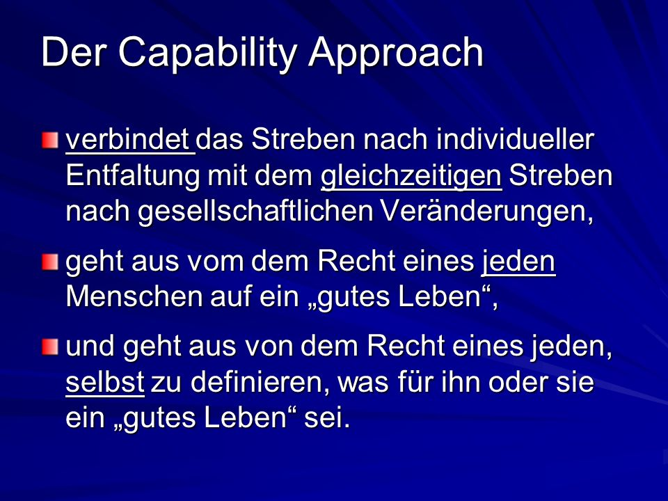 Der Capability Approach