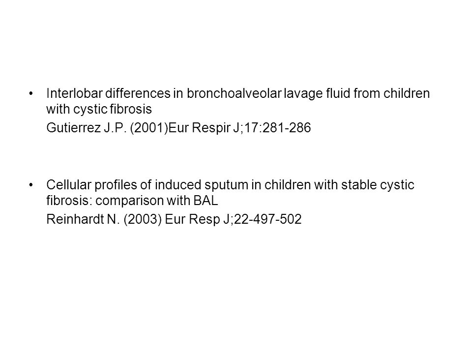 Interlobar differences in bronchoalveolar lavage fluid from children with cystic fibrosis