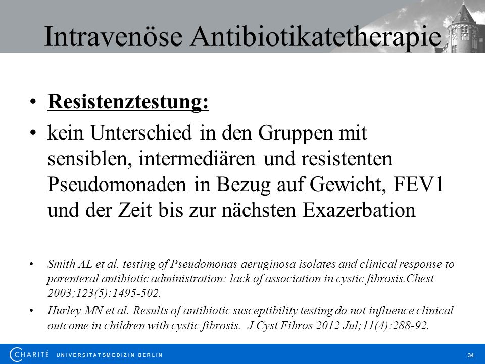 Intravenöse Antibiotikatetherapie