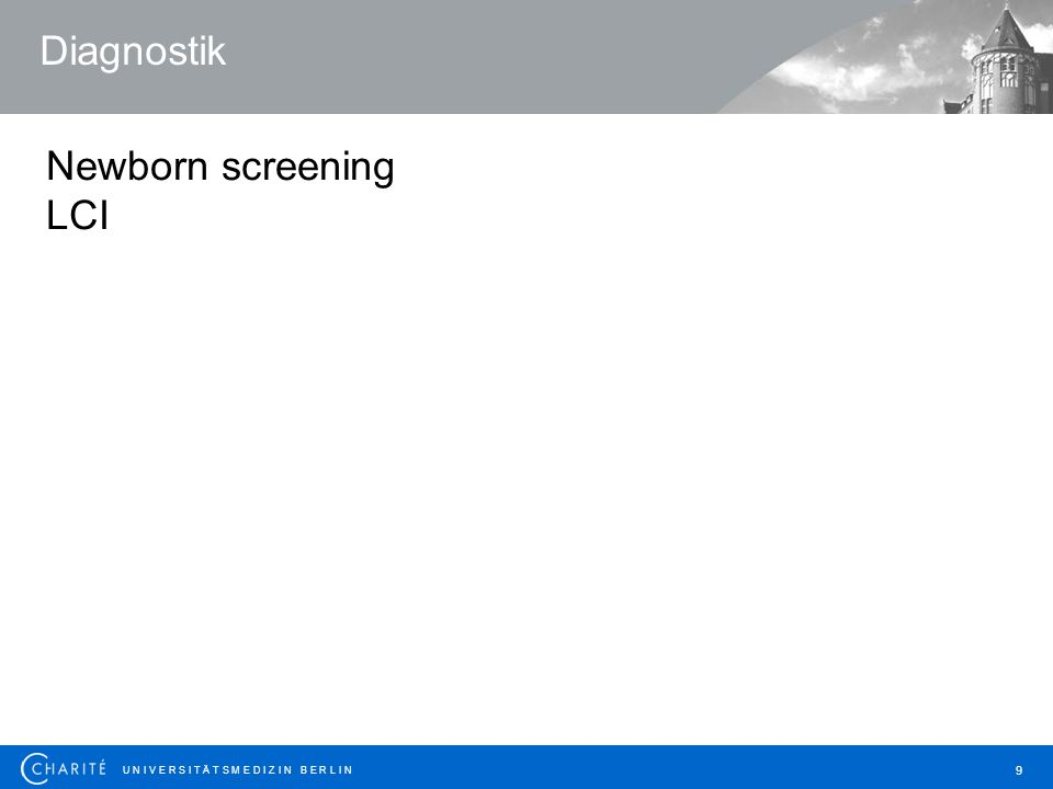 Diagnostik Newborn screening LCI