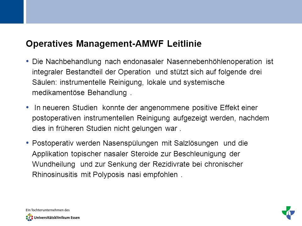 Operatives Management-AMWF Leitlinie