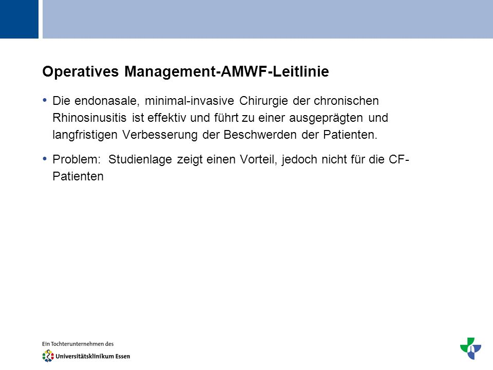 Operatives Management-AMWF-Leitlinie