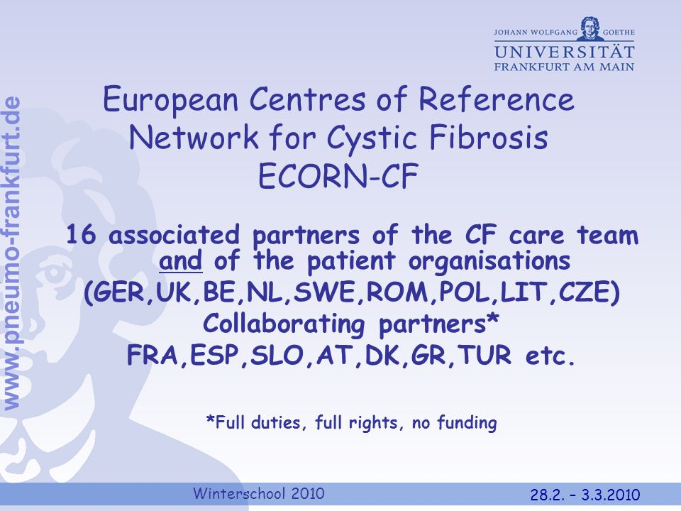 European Centres of Reference Network for Cystic Fibrosis ECORN-CF