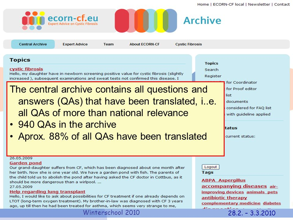 Aprox. 88% of all QAs have been translated