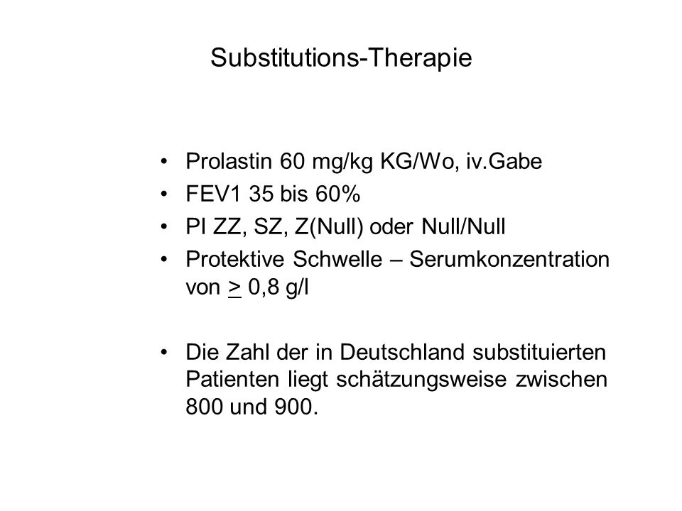 Substitutions-Therapie