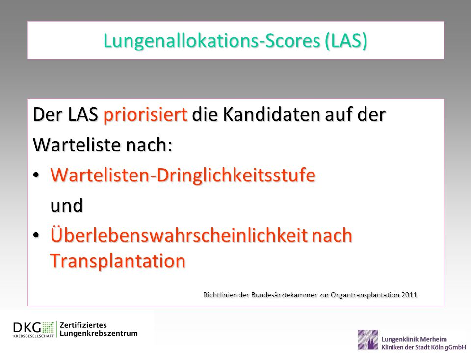 Lungenallokations-Scores (LAS)