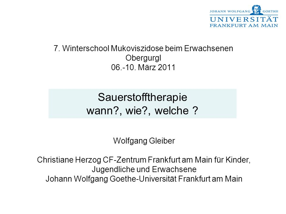Johann Wolfgang Goethe-Universität Frankfurt am Main - ppt herunterladen