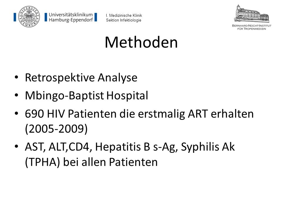 Methoden Retrospektive Analyse Mbingo-Baptist Hospital