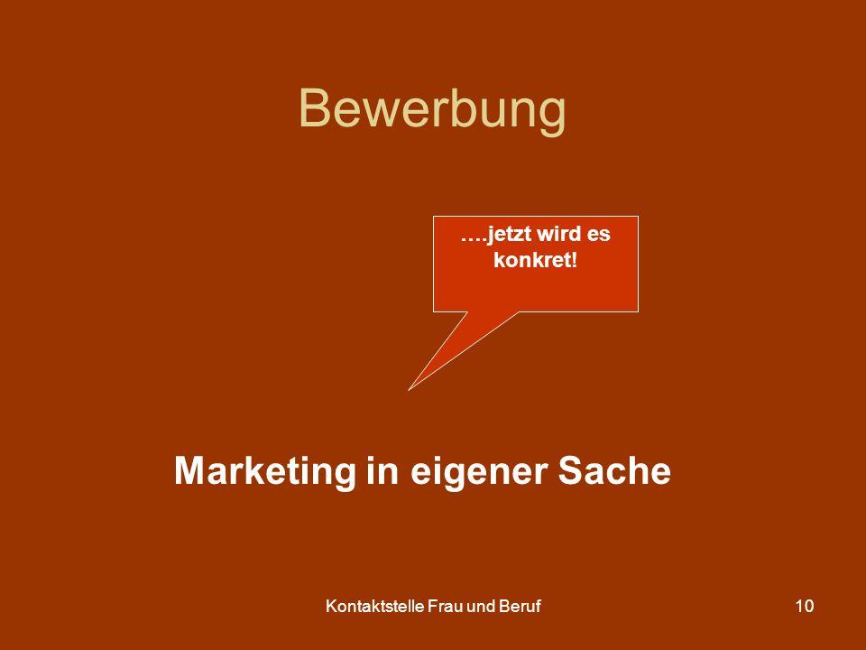 Marketing in eigener Sache