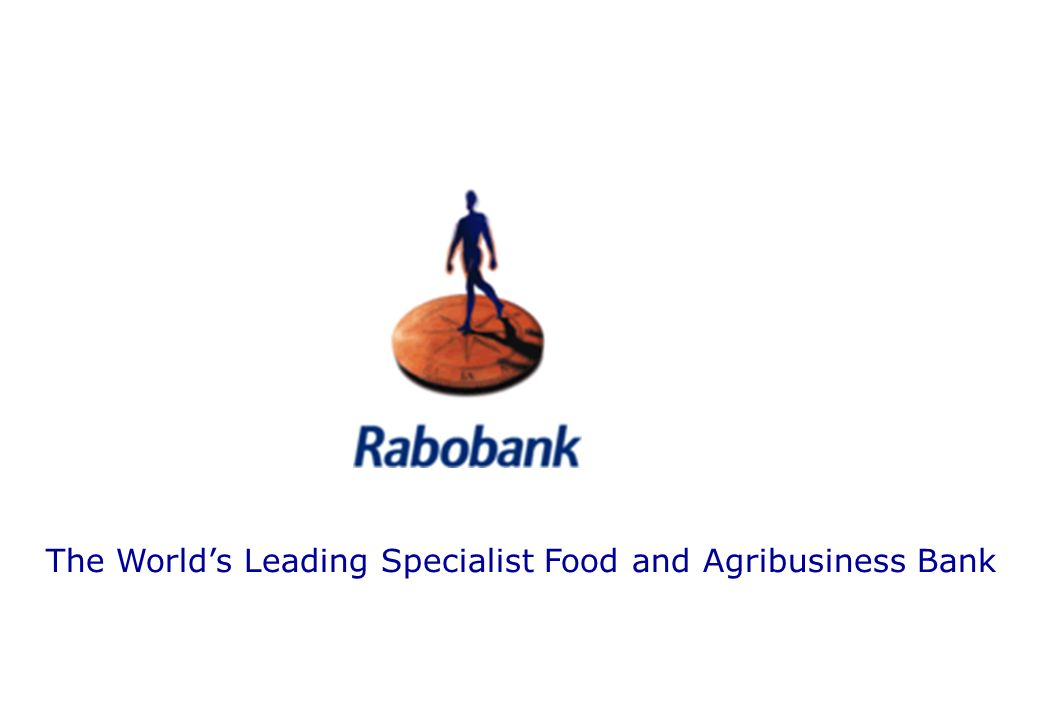 The World's Leading Specialist Food and Agribusiness Bank