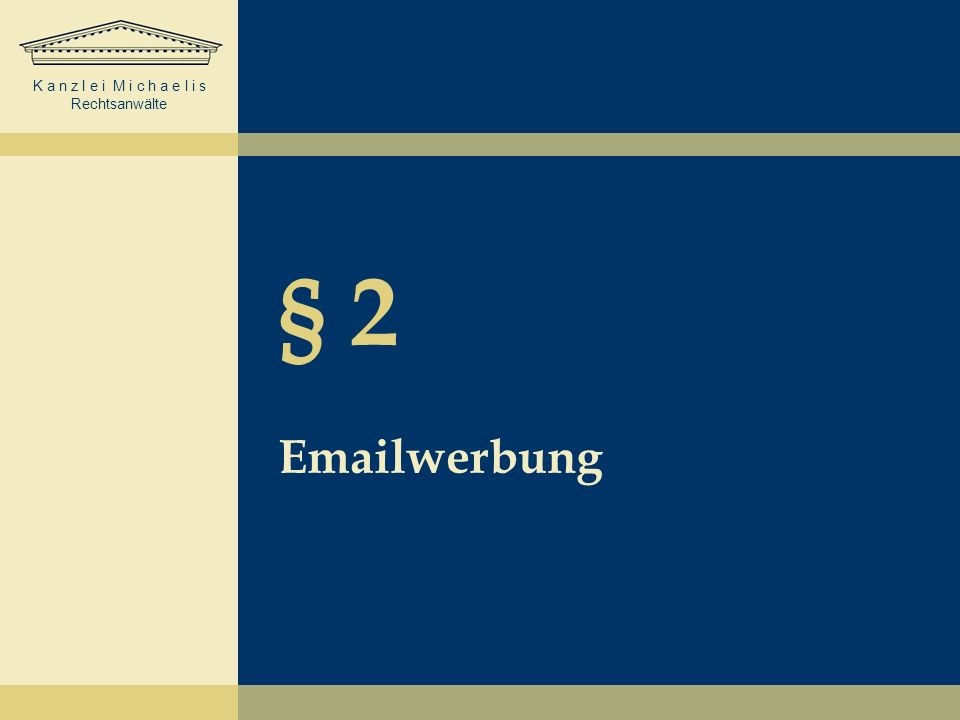 § 2 Emailwerbung