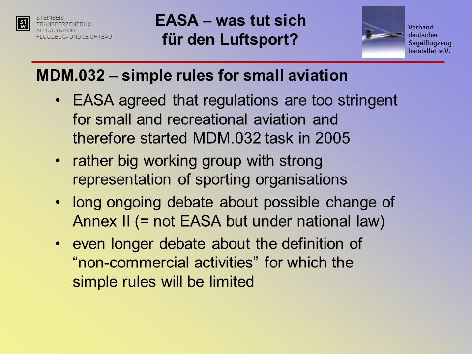MDM.032 – simple rules for small aviation