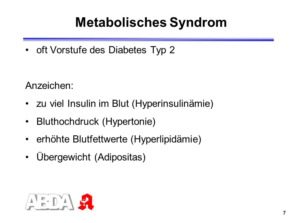 Metabolisches Syndrom