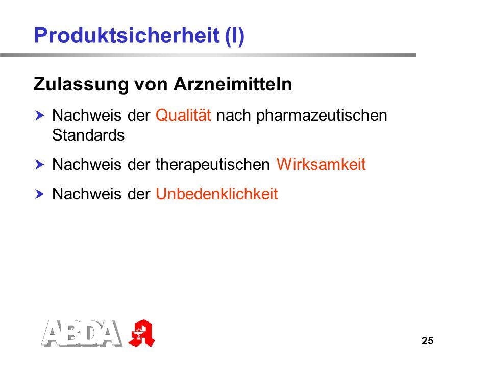 Produktsicherheit (I)
