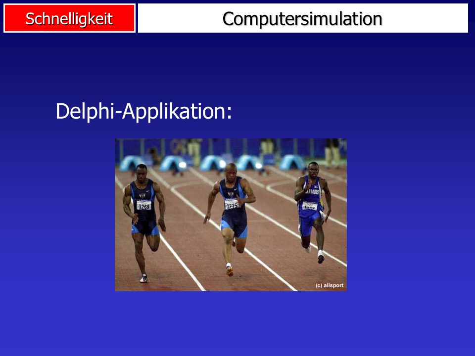 Computersimulation Delphi-Applikation:
