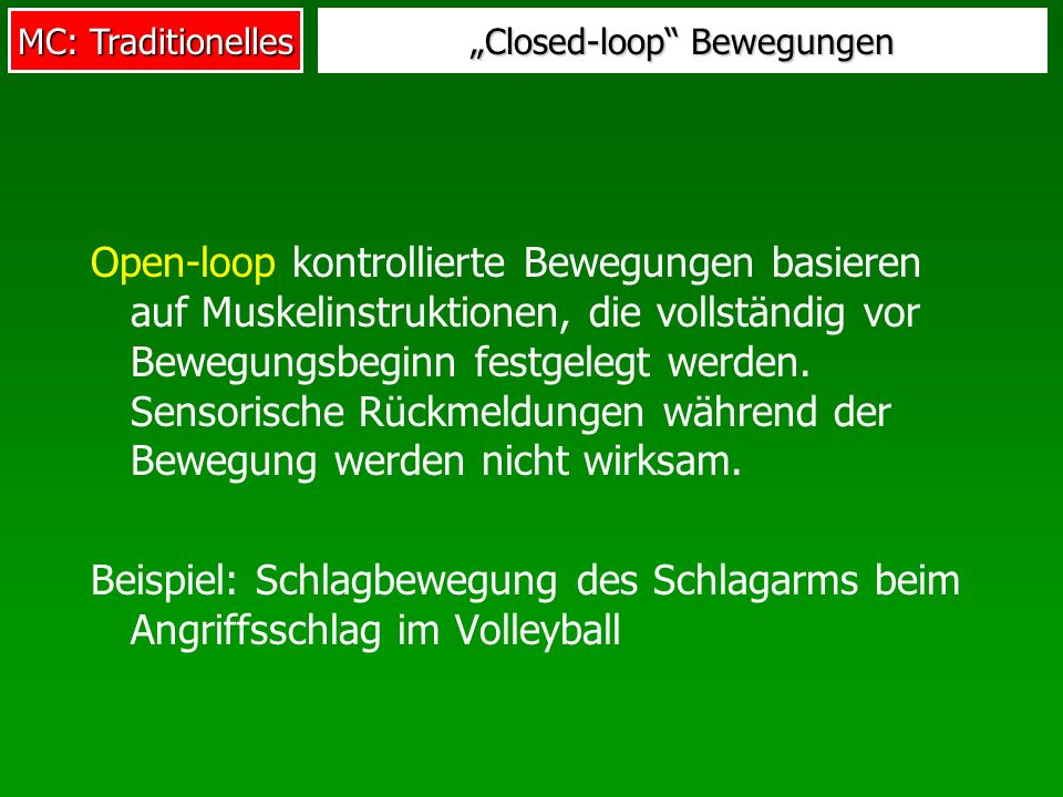 """Closed-loop Bewegungen"