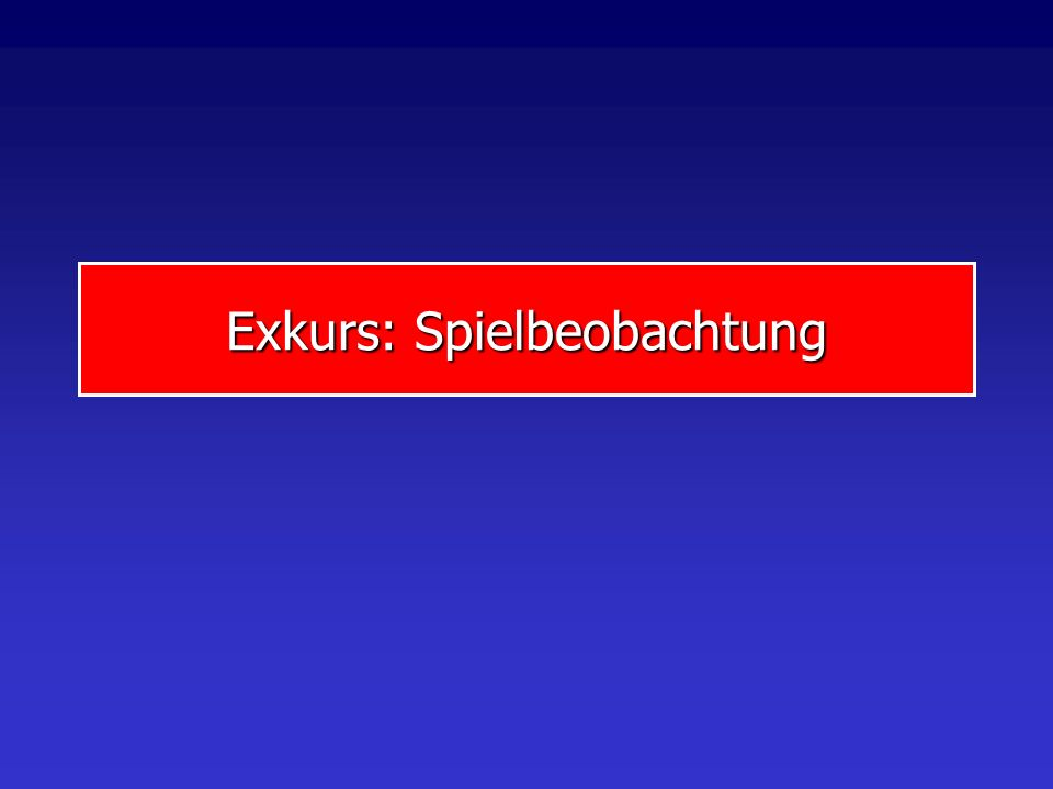 Exkurs: Spielbeobachtung