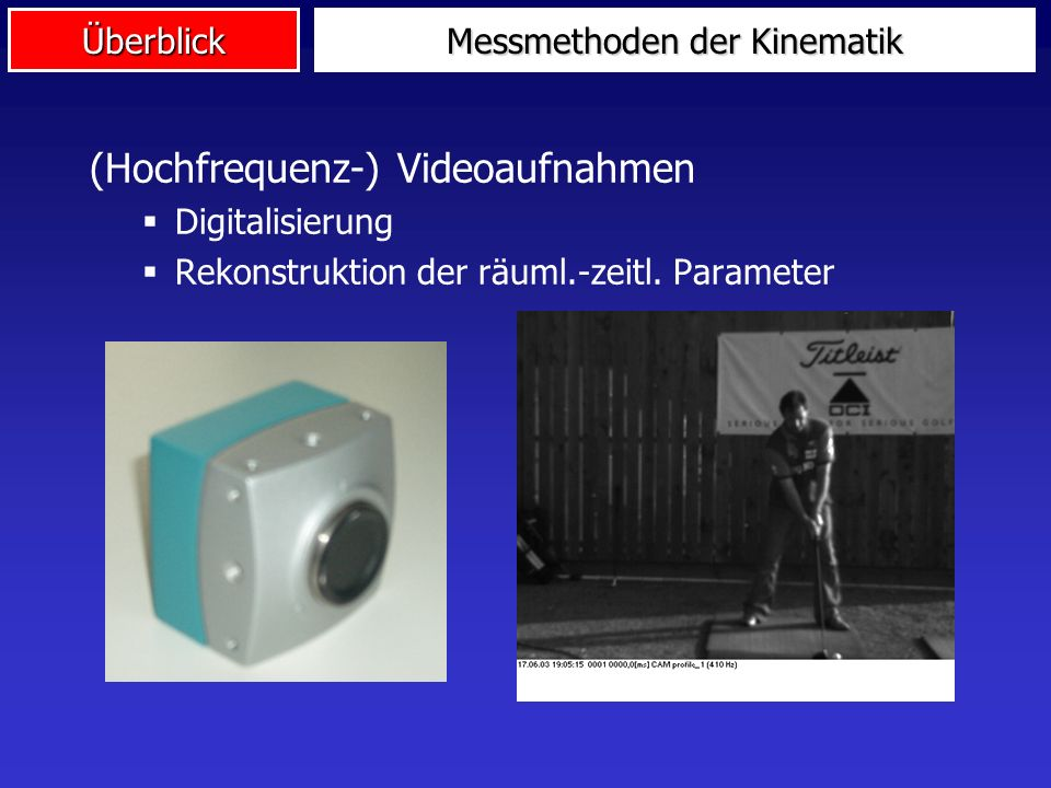Messmethoden der Kinematik
