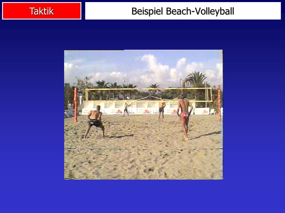 Beispiel Beach-Volleyball