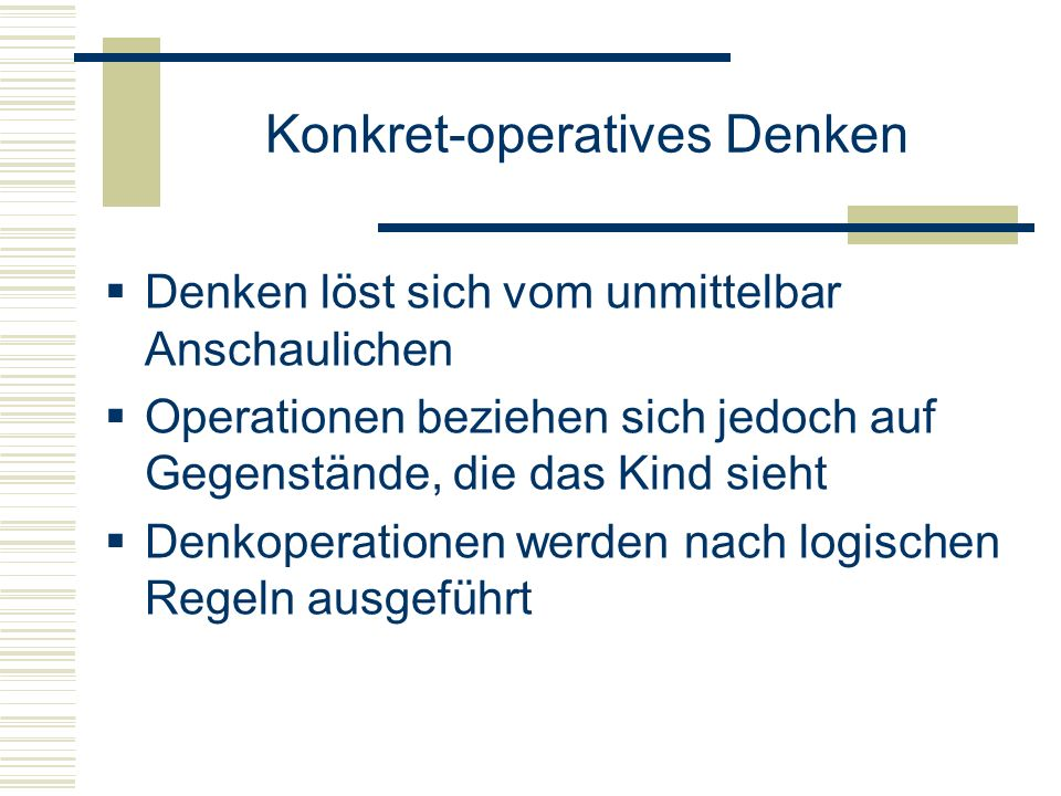 Konkret-operatives Denken