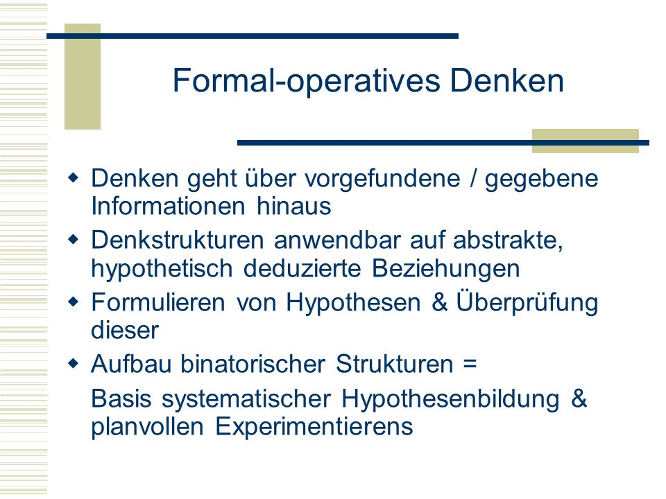 Formal-operatives Denken