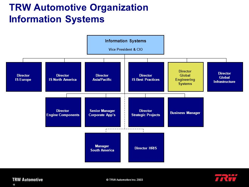 TRW Automotive Organization Information Systems