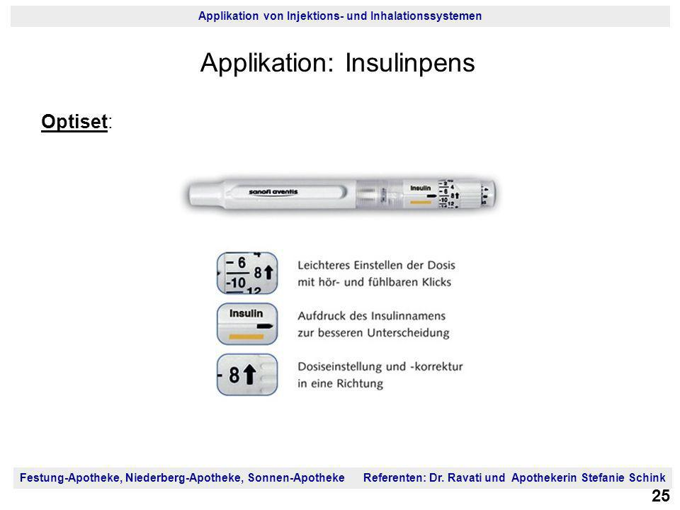 Applikation: Insulinpens