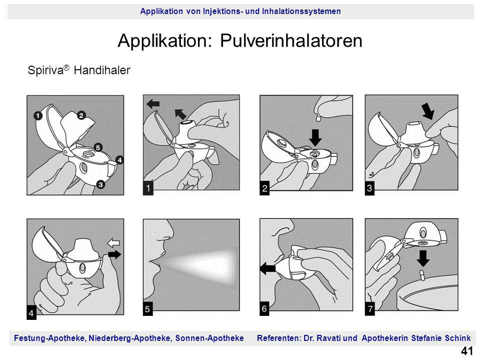Applikation: Pulverinhalatoren