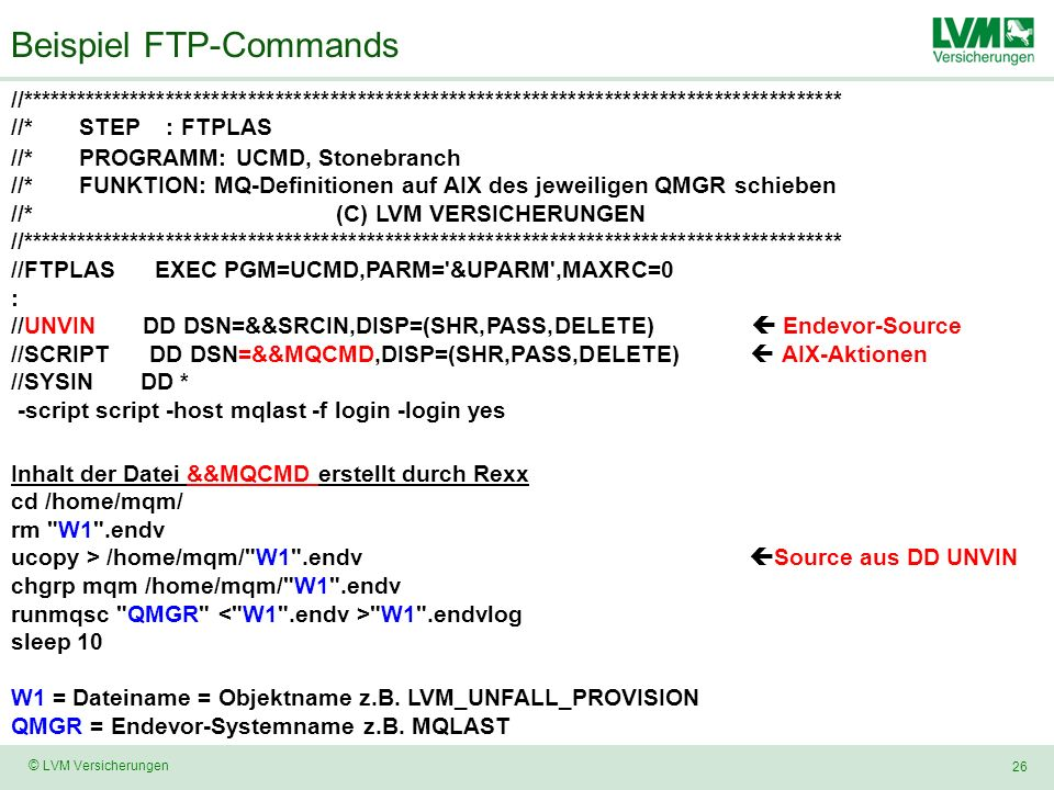 Beispiel FTP-Commands