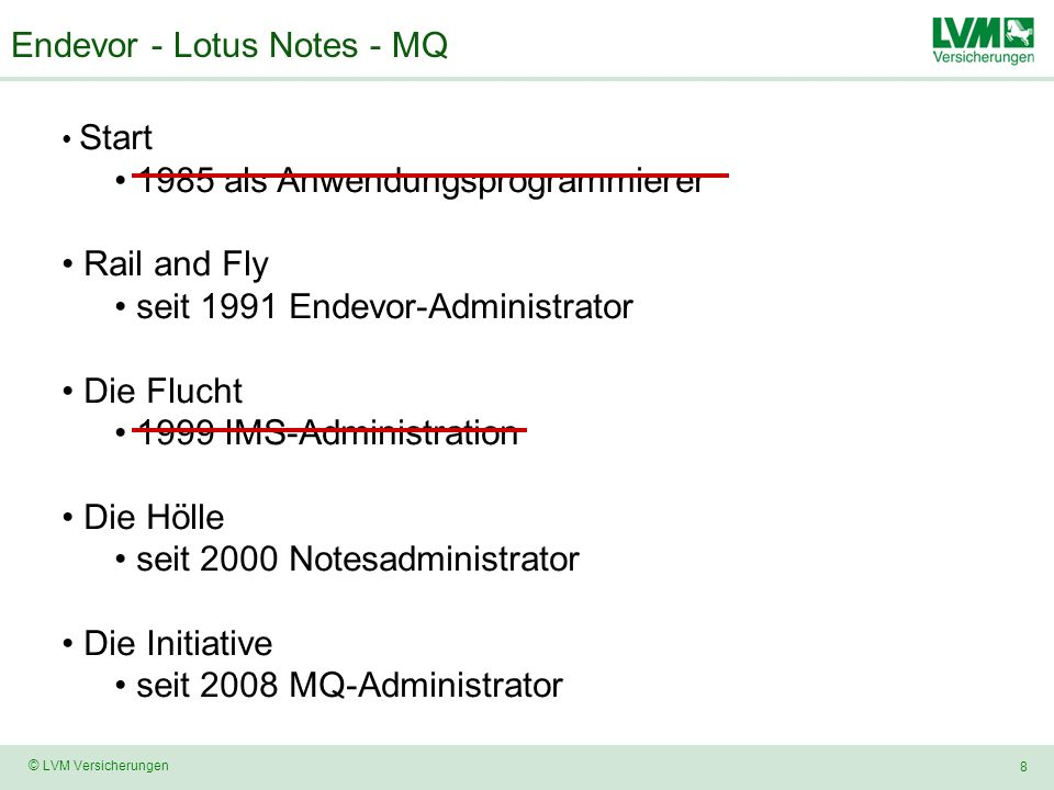 Endevor - Lotus Notes - MQ