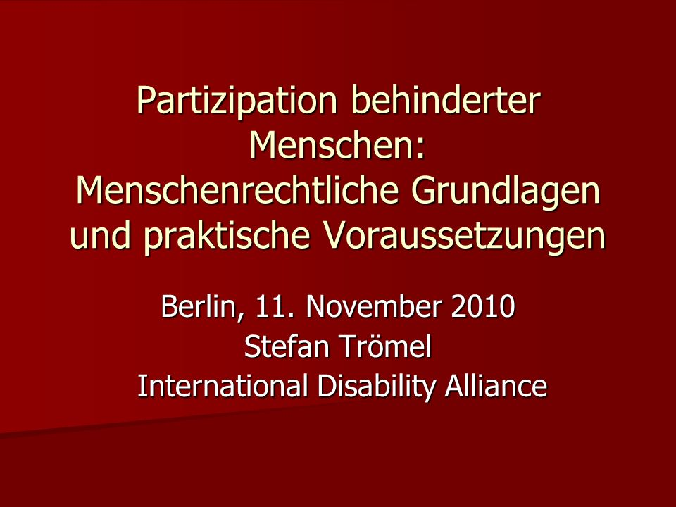 International Disability Alliance