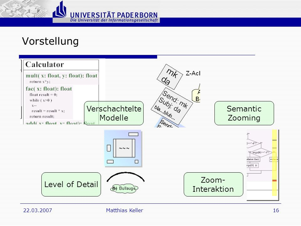 Vorstellung Verschachtelte Modelle Semantic Zooming Level of Detail