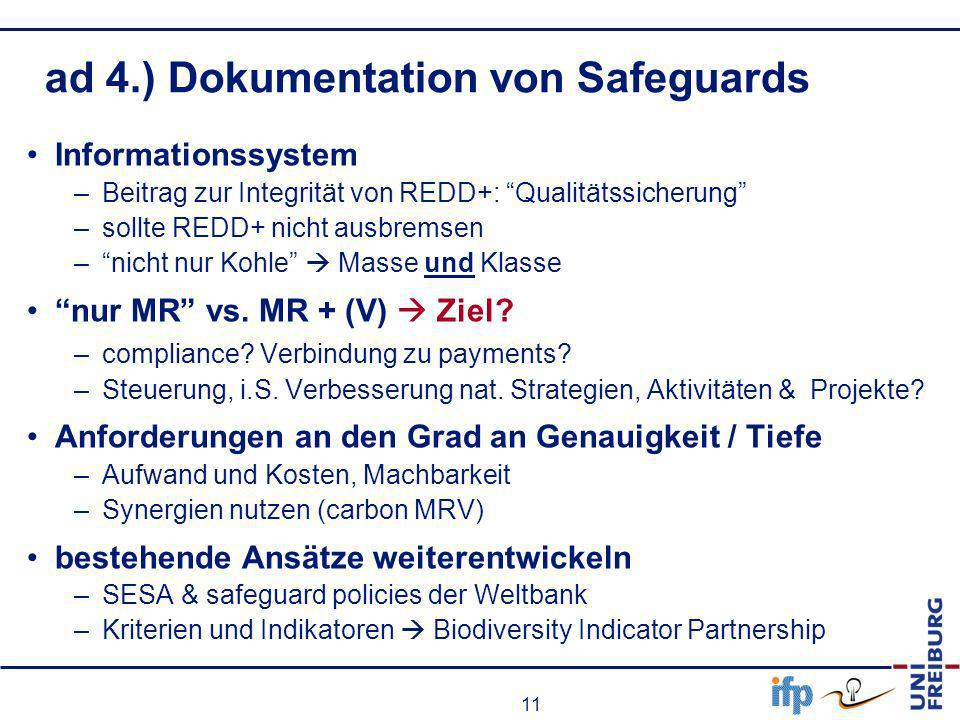 ad 4.) Dokumentation von Safeguards