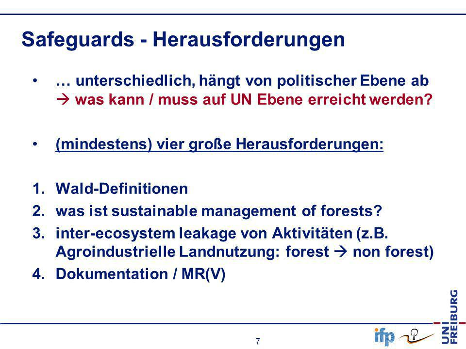 Safeguards - Herausforderungen