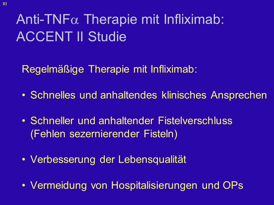 Anti-TNF Therapie mit Infliximab: ACCENT II Studie