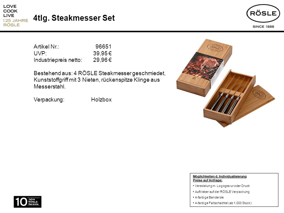 4tlg. Steakmesser Set