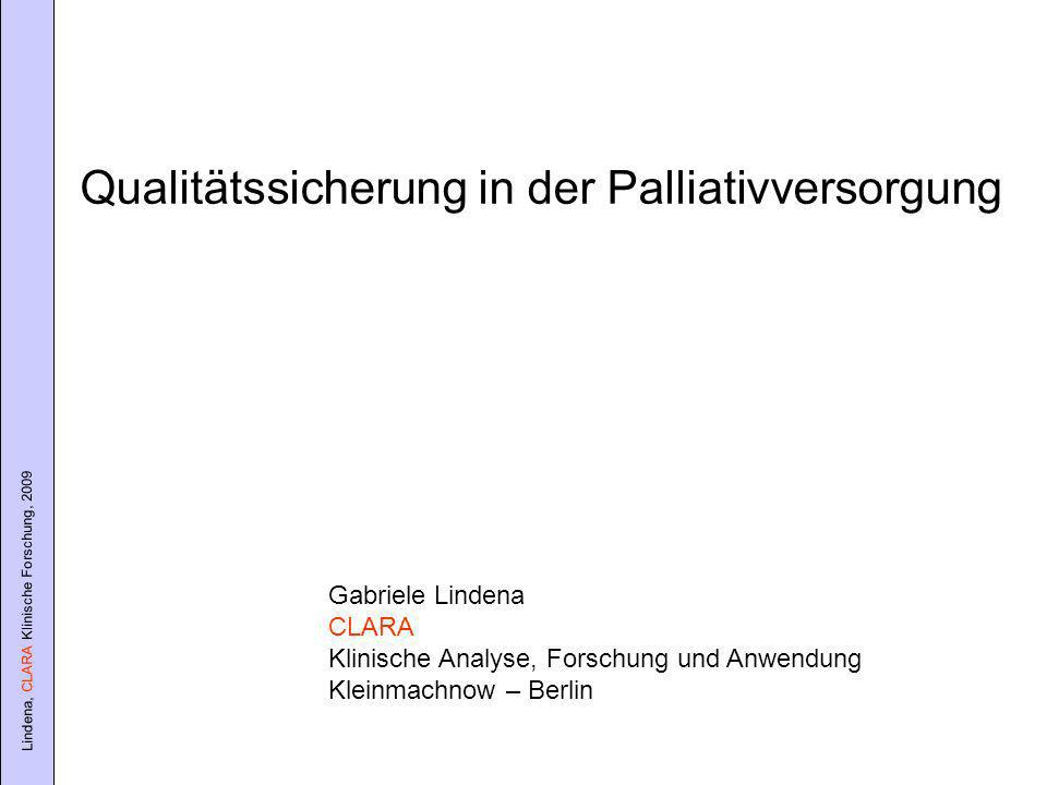 Qualitätssicherung in der Palliativversorgung