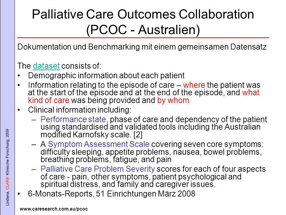 Palliative Care Outcomes Collaboration (PCOC - Australien)